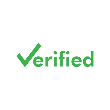Verified icon graphic design template vector isolated
