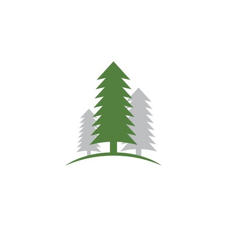 Cedar tree graphic design template vector isolated