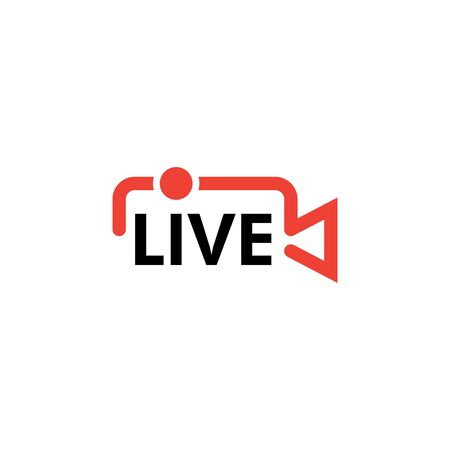 Live icon design template vector isolated illustration
