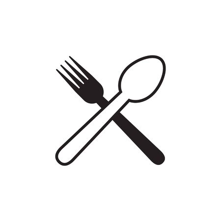 Spoon fork graphic design template vector isolated