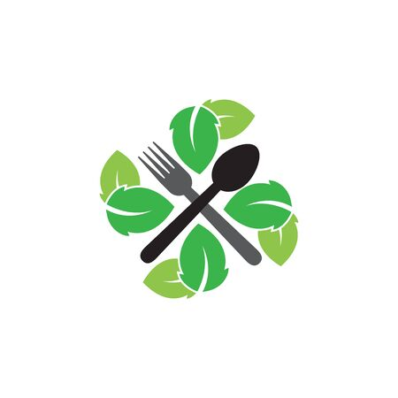 Natural restaurant graphic design template vector isolated  イラスト・ベクター素材