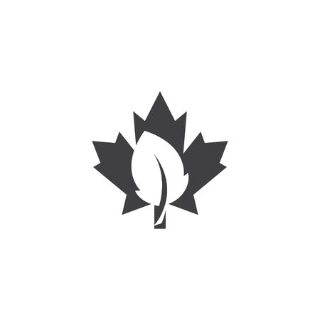 Maple leaf icon design template vector isolated