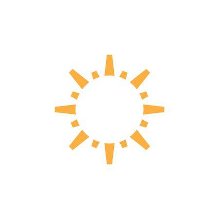 Sun icon graphic design template vector isolated