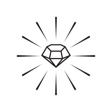 Diamond graphic deisgn template vector isolated illustration