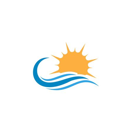 Water and sun icon graphic design template vector Иллюстрация