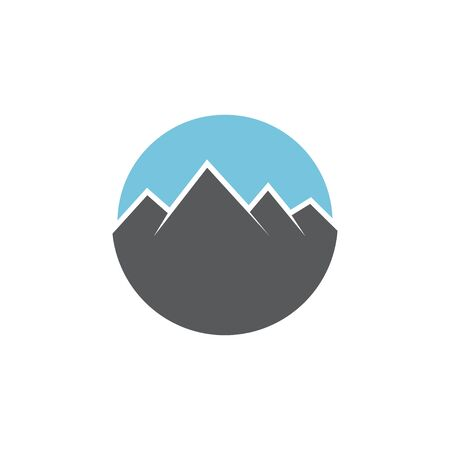 Mountain graphic design template vector isolated illustration Иллюстрация