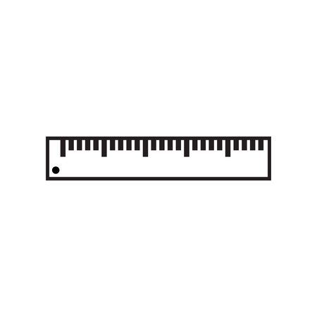 Ruler icon graphic design template vector isolated