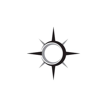 Compass abstract icon graphic design template isolated