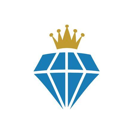 King diamond precious gem graphic deisgn template vector Иллюстрация