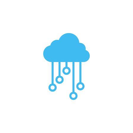 Cloud electronic circuit icon deisgn template Иллюстрация