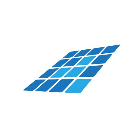 Solar panel icon design template vector isolated Illustration