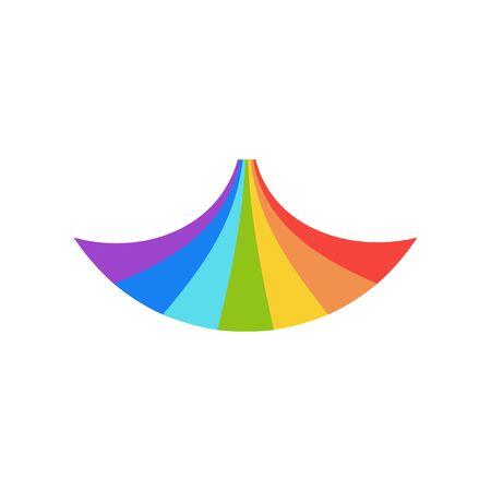 Rainbow graphic design template vector isolated illustration Иллюстрация
