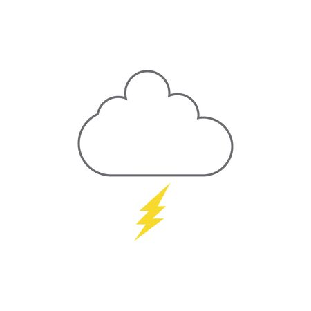 Thunder cloud icon design template vector isolated