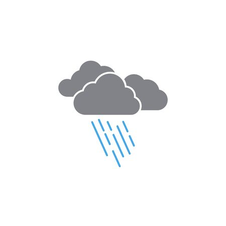 Rain weather icon design template vector isolated