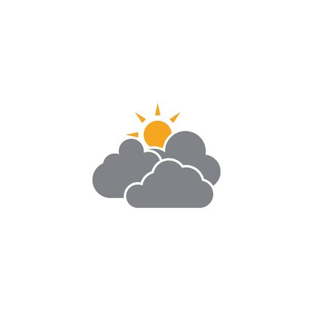 Cloudy weather icon design templateve vector isolated