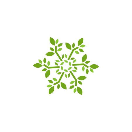 Natural leaf graphic design template vector isolated Иллюстрация