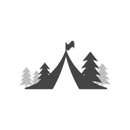 Tent camping icon design template vector isolated