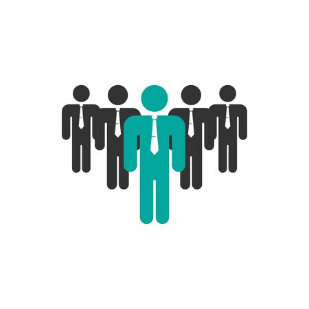 Business team leader icon design template isolated
