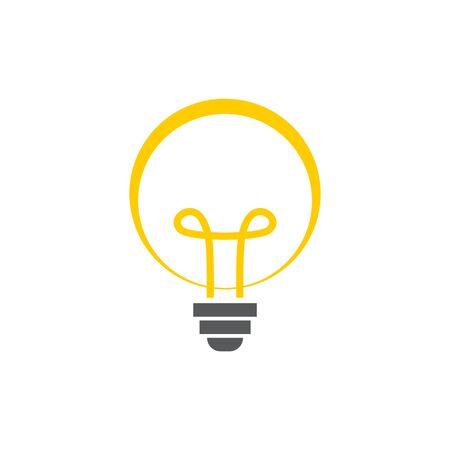 Lightbulb graphic design template vector isolated illustration