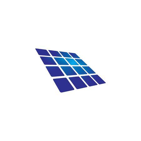 Solar panel icon design template vector isolated Illusztráció