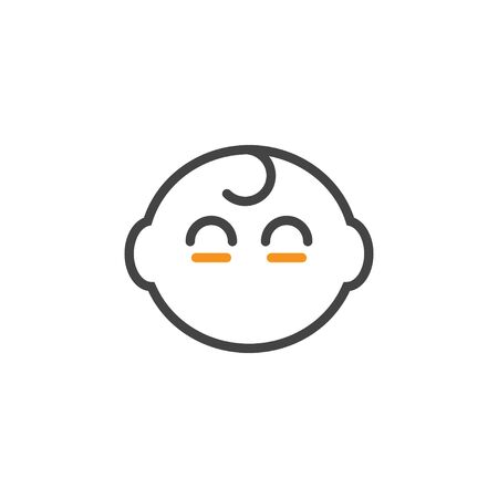 Baby head icon design template vector isolated
