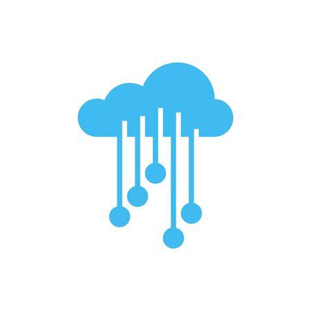 Cloud electronic circuit icon deisgn template Illusztráció