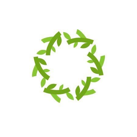 Natural leaf graphic design template vector isolated Illusztráció