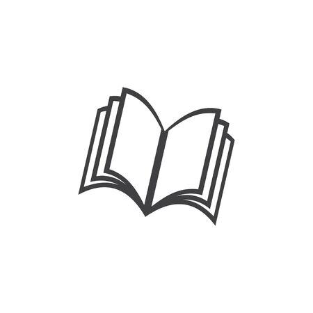 Book graphic design template vector isolated illustration Illusztráció