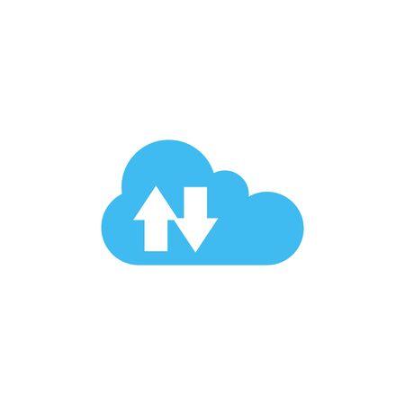 Synchronization cloud icon design template isolated illustration Illusztráció