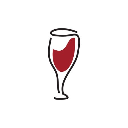 Wine icon design template  isolated