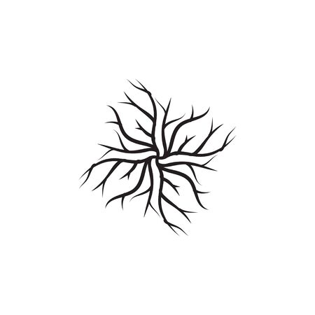 Root icon design template  isolated