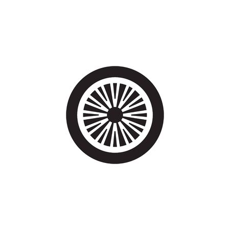 Car wheel icon design template isolated