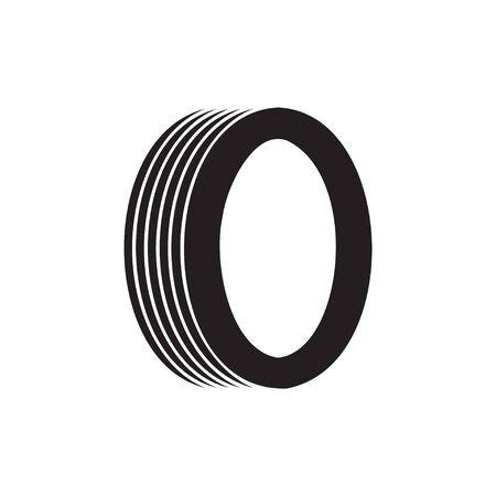 Tyre icon design template isolated Illusztráció