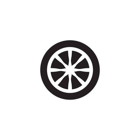 Car wheel icon design template  isolated Illusztráció
