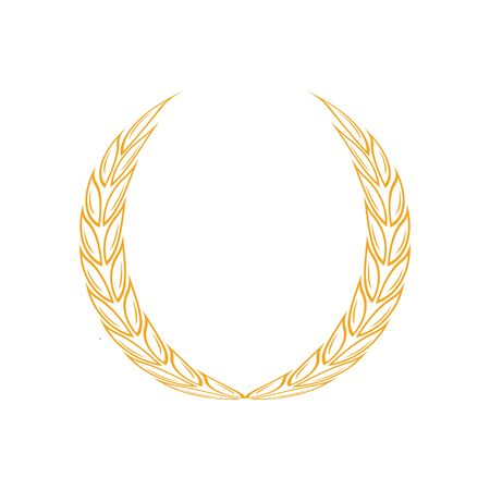 Laurel wreath icon design template vector isolated