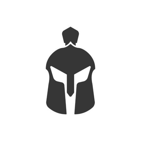 Spartan helmet icon design template vector isolated  イラスト・ベクター素材