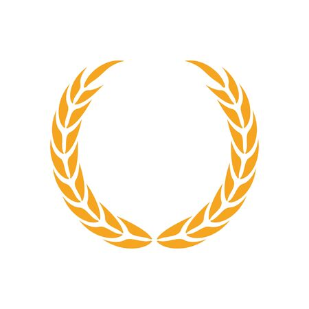 Laurel wreath icon design template vector isolated