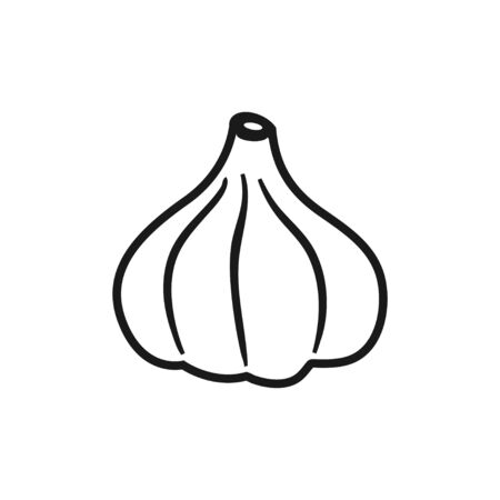 Garlic icon design template vector isolated illustration