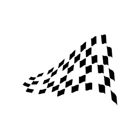 Race flag graphic design template vector isolated