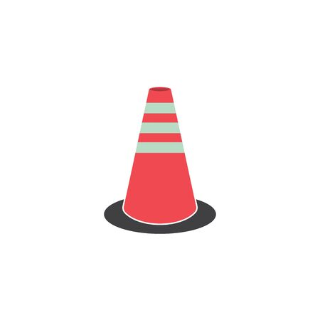 traffic cone road graphic design template vector isolated