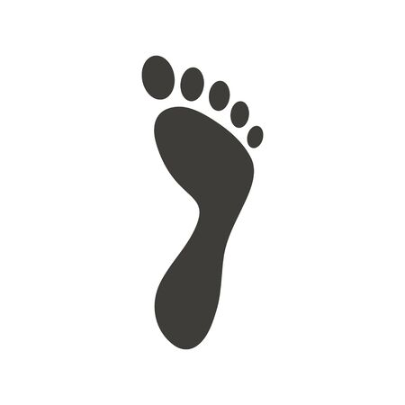 Foot palm icon design template vector isolated illustration Banque d'images