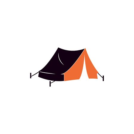 Tent camp graphic design template vector isolated illustration