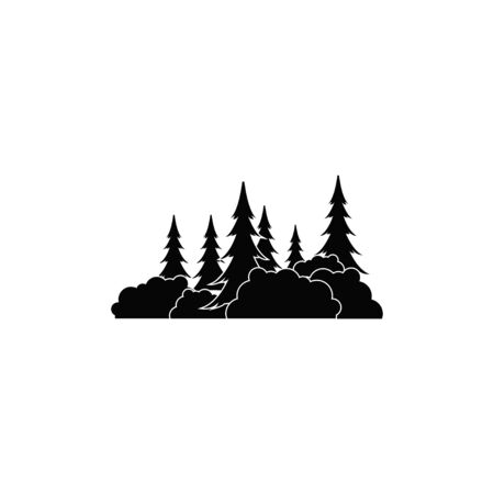 Forest graphic design template vector isolated illustration Ilustracja