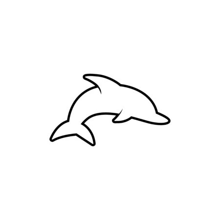 Dolphin graphic design template vector isolated illustration