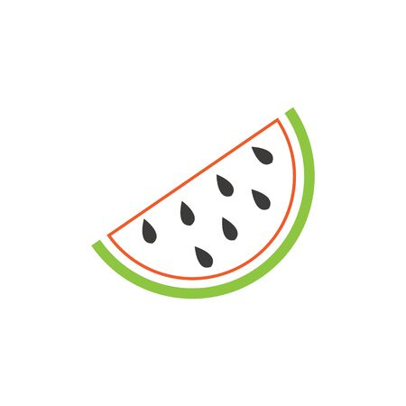 Watermelon graphic design template vector isolated illustration