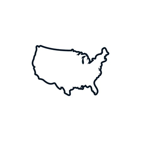 Usa map graphic design template vector isolated illustration