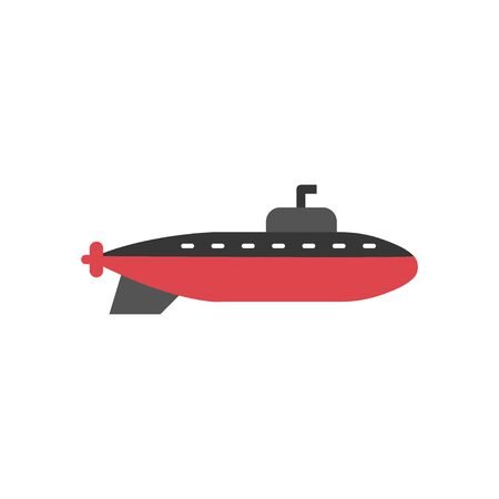 Submarine graphic design template vector isolated illustration