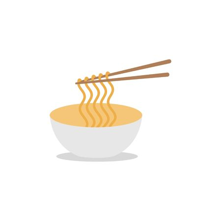 Noodle graphic design template vector isolated illustration