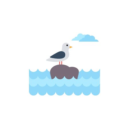 Seagull graphic design template vector isolated illustration Illustration