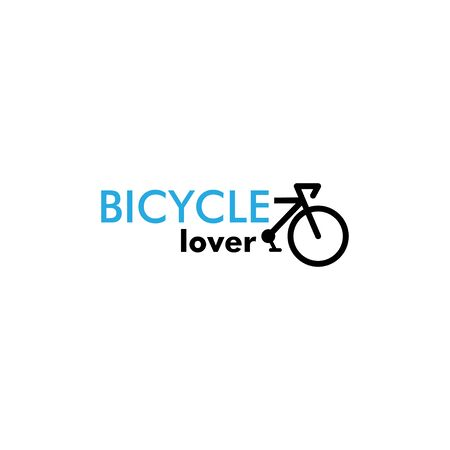 Bicycle lover graphic design template vector isolated illustration